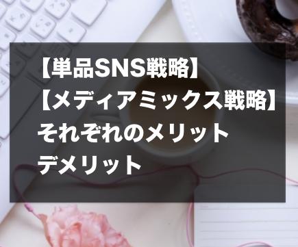 【単品SNS戦略】と【メディアミックス戦略】それぞれのメリット、デメリット